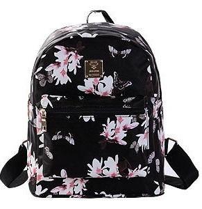 82d532b1e75 Women Leather Backpack Flower Floral Backpacks For Teenage Girls Small  Printing Backpack Female Schoolbag Rucksacks For