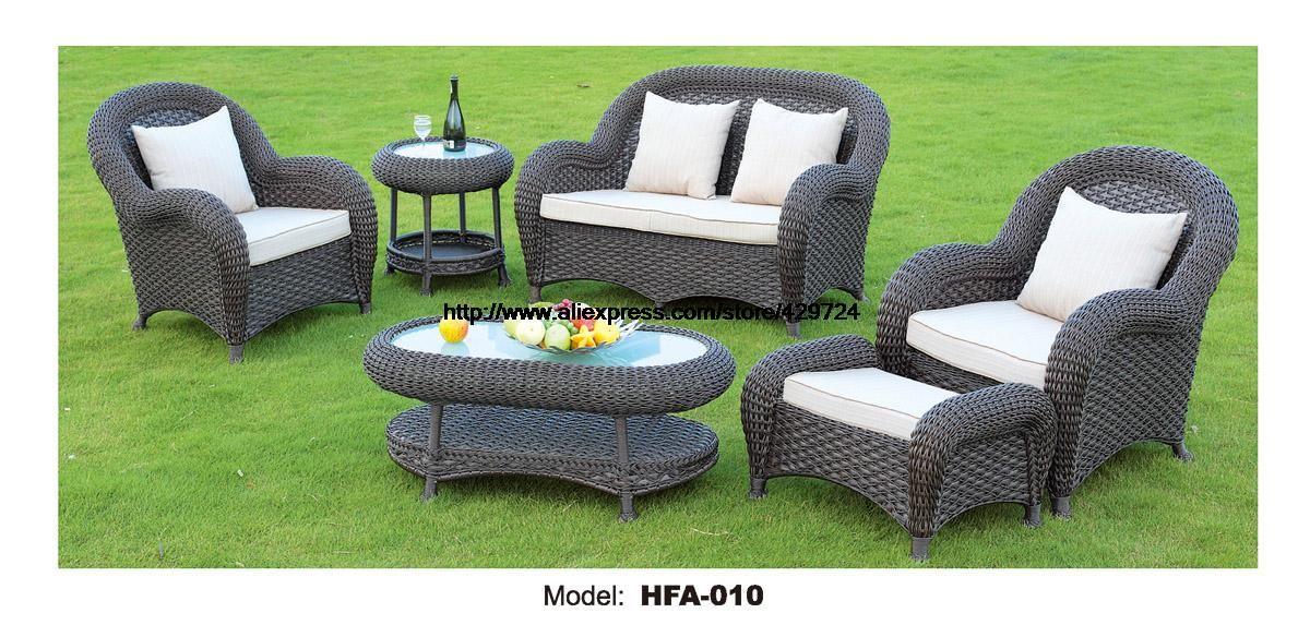 Luxus Rattan Mobel Handmake Cane Outdoor Garten Sofa Satz Tisch