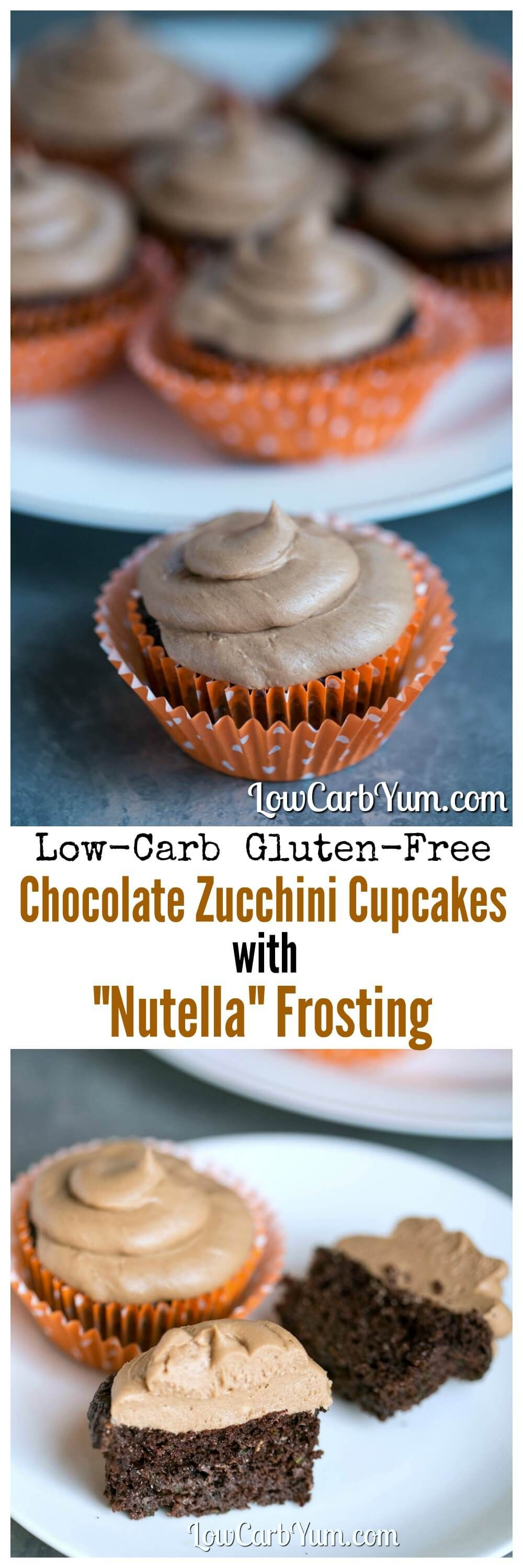 chocolate low carb cupcakes with nutella frosting recipe. Black Bedroom Furniture Sets. Home Design Ideas