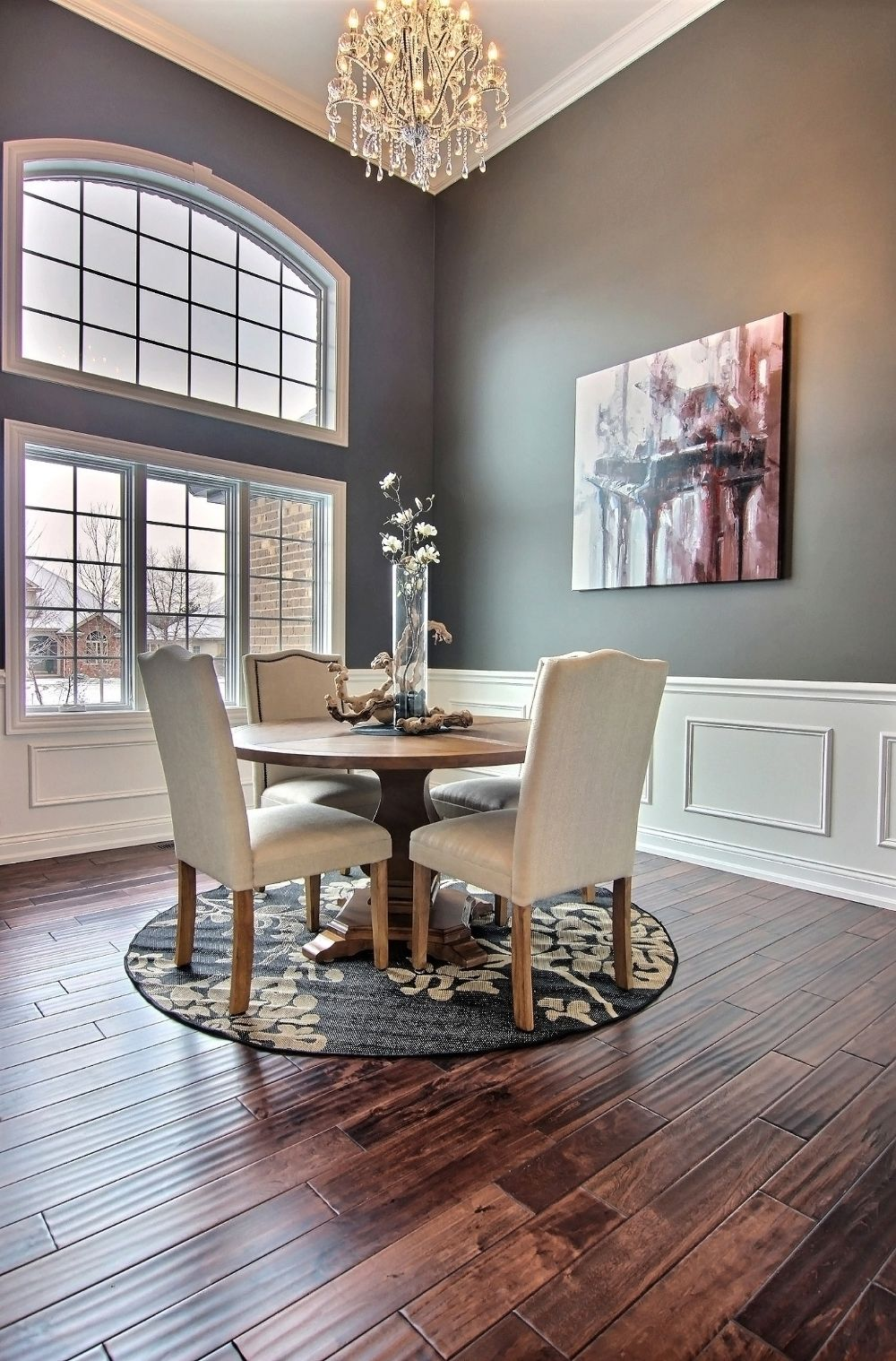 Formal Dining Room With Crystal