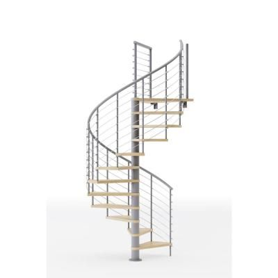 Mylen Stairs Hayden Gray 60 In 5 Ft 0 In Wide 15 Treads With