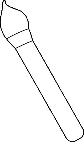 Black And White Art Paint Brush Clip Art Black And White Art Paint Brush Image White Art Black White Art Paint Brushes