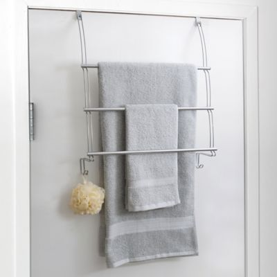 Bed Bath And Beyond Towel Rack Glamorous Bed Bath & Beyond Totally Bath Over The Door Towel Bar In White Inspiration