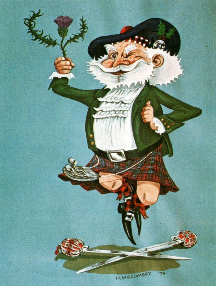Scottish Christmas Card Vintage Vintage 70s Christmas Card By H Mc Comsey Lang I Heart Scotl
