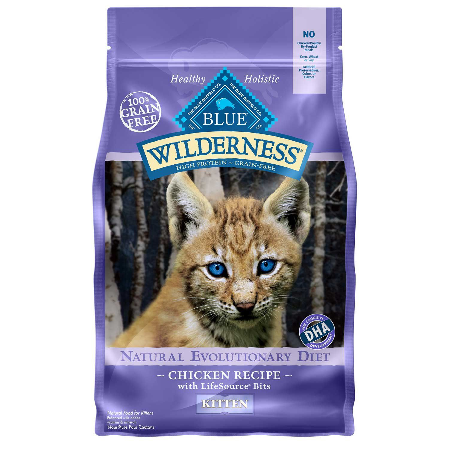Blue Buffalo Blue Wilderness Kitten Chicken Recipe Dry Cat Food 2