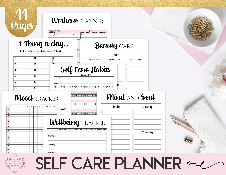 Self Care Planner Self Care Routine Planner Self Care