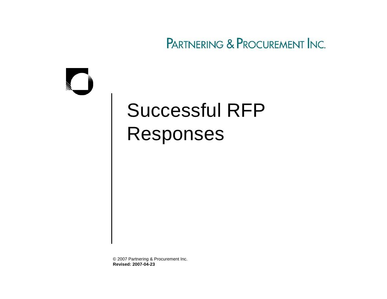 Successful Rfp Responses Rfp Response Rfp Proposal Writing
