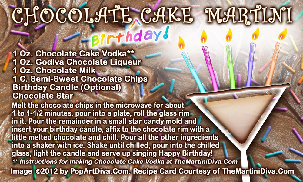 THE CHOCOLATE Birthday CAKE MARTINI And Recipe for Chocolate Cake