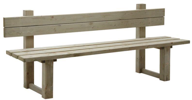 banc de jardin avec dossier en bois trait autoclave vert gris banc de jardin bancs et dossier. Black Bedroom Furniture Sets. Home Design Ideas