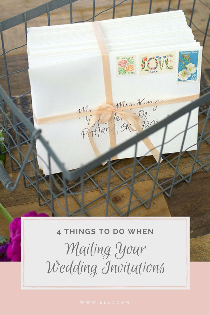 4 Things to Do When Mailing Your Wedding Invitations   Wedding ...