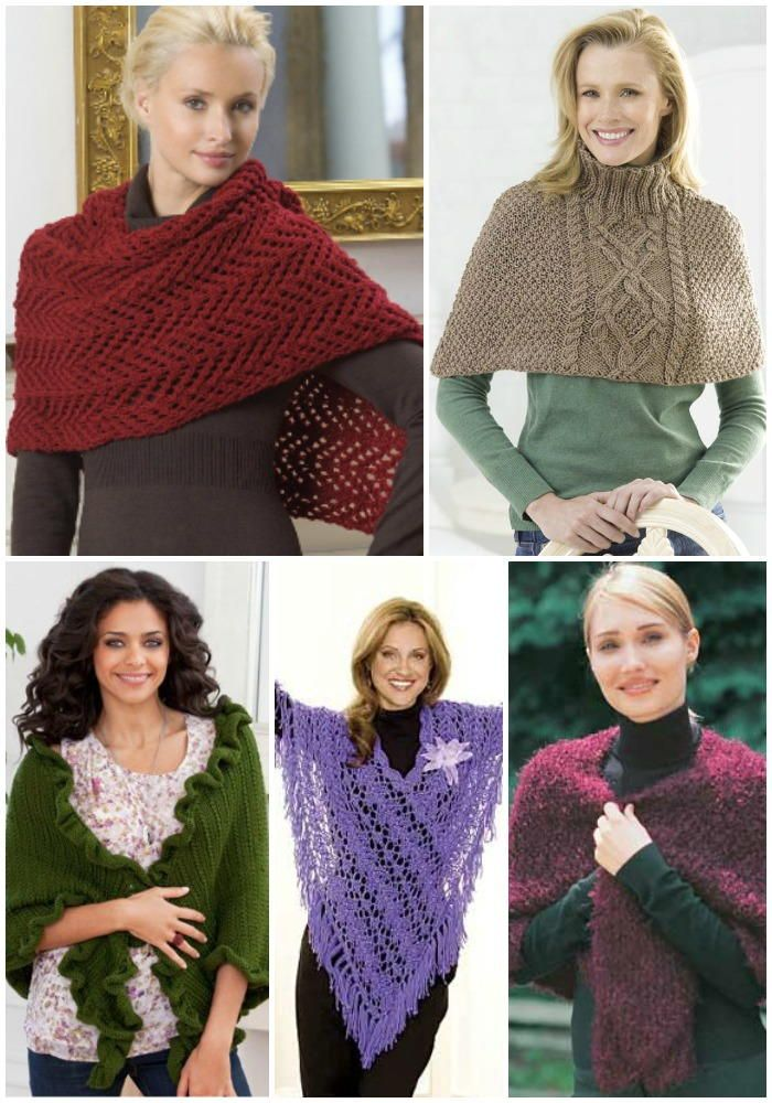 23 Favorite Free Shawl and Poncho Knitting Patterns | Pinterest ...