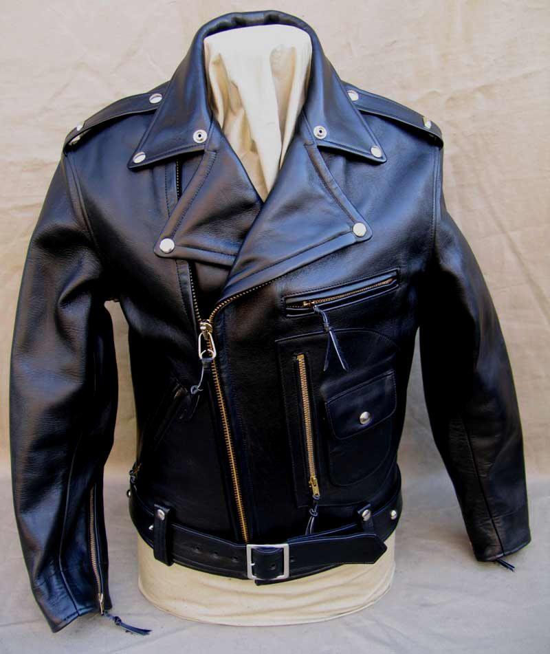 Buco J23 Black Horsehide Leather Motorcycle Jacket Lost Worlds