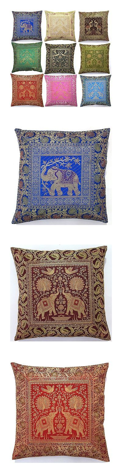 Brocade Home Decor pillows 20563: 10 pc lot square silk home decor cushion cover
