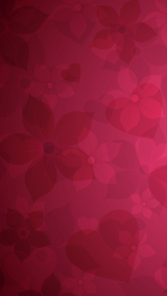 Red Floral Pattern IPhone 5s Wallpaper