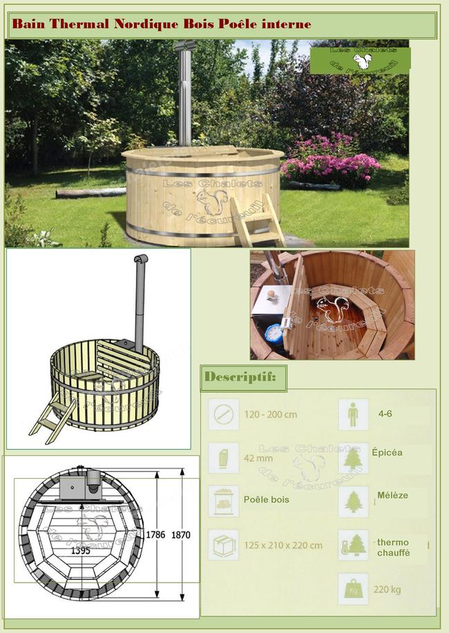 Bain thermal nordique spa bois les chalets de l for Exterieur plus sevrier
