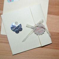 kit de materiales para hacer tarjetas invitaciones de bautizo
