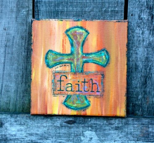 Faith Canvas Wall Art. Use promo code 'All' to get 15% off your entire order from the All Inspired Boutique.
