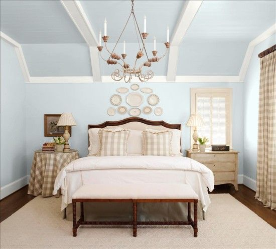 "Bedroom Interior Colour Relaxing Bedroom Decorating Ideas Light Blue Ceiling Bedroom Interior Design Bedroom Wall Colour: Use A Paint Program At BHG To ""sample"" Benjamin Moore"