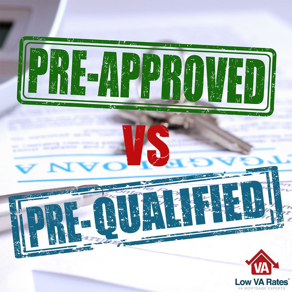 Many Home Buyers Think That Pre Qualifying For A Loan Means They Are Pre Approved But This Is Not The Case Read The Va Loan Process Pre Qualify Mortgage Tips