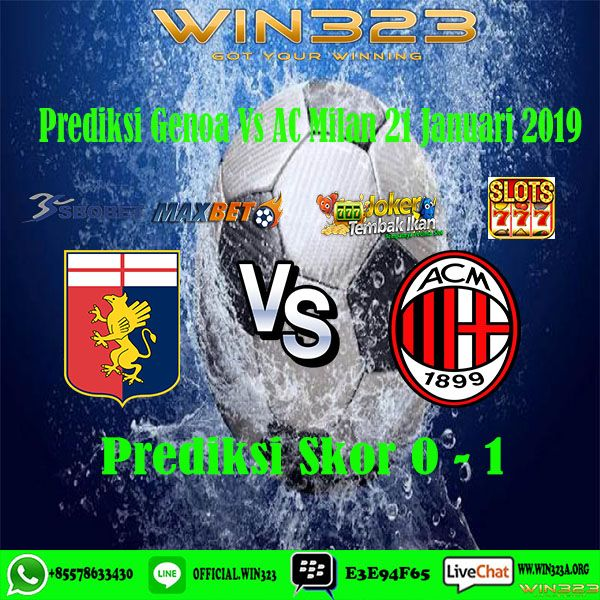 Prediksi Genoa vs AC Milan 21 Januari 2019 | Ac milan