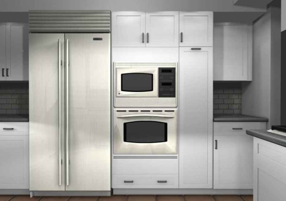 Good Looking Ikea Double Oven Cabinet As Furniture For Kitchen