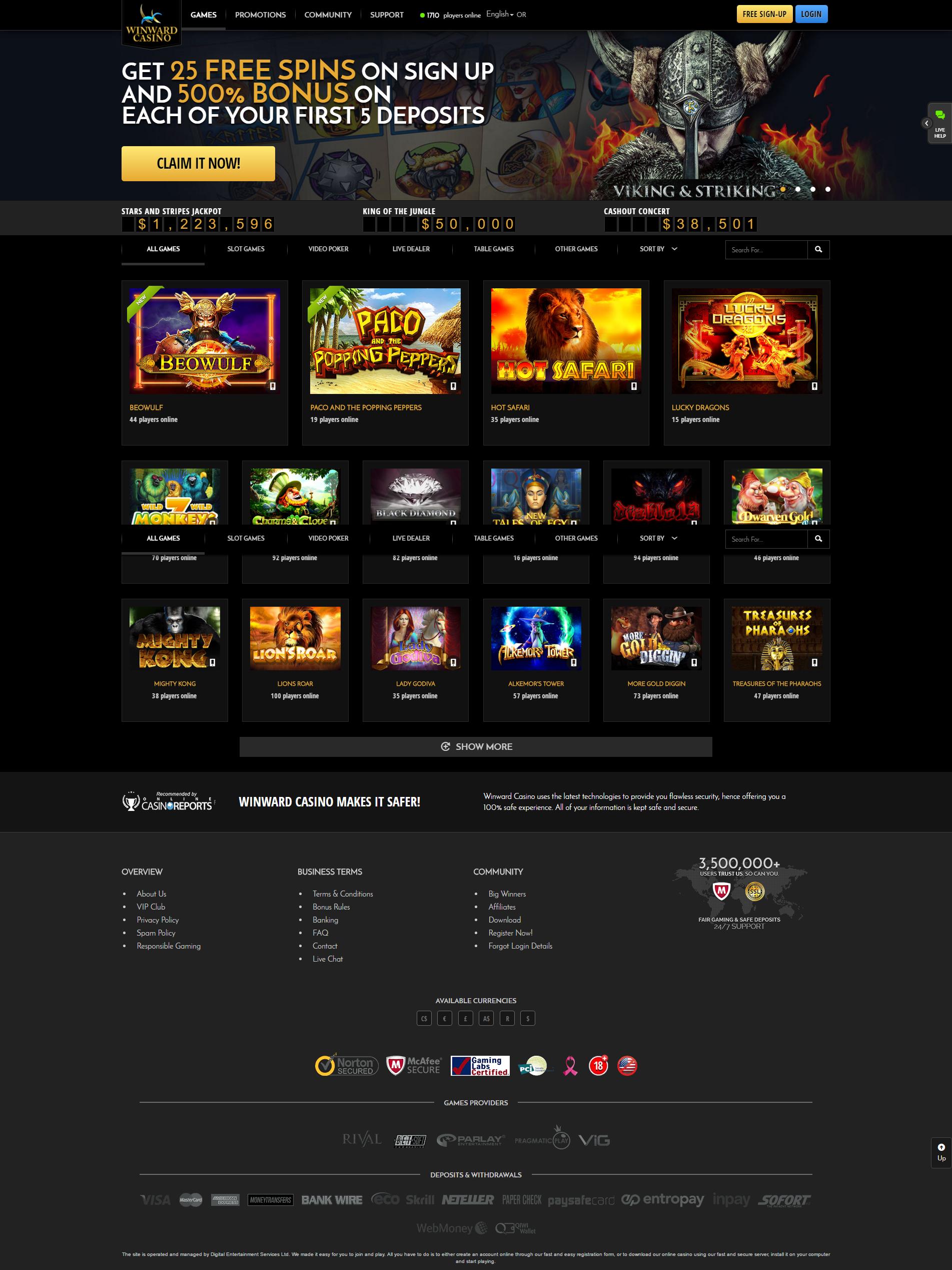 Casino offer winward instant bonus casinos
