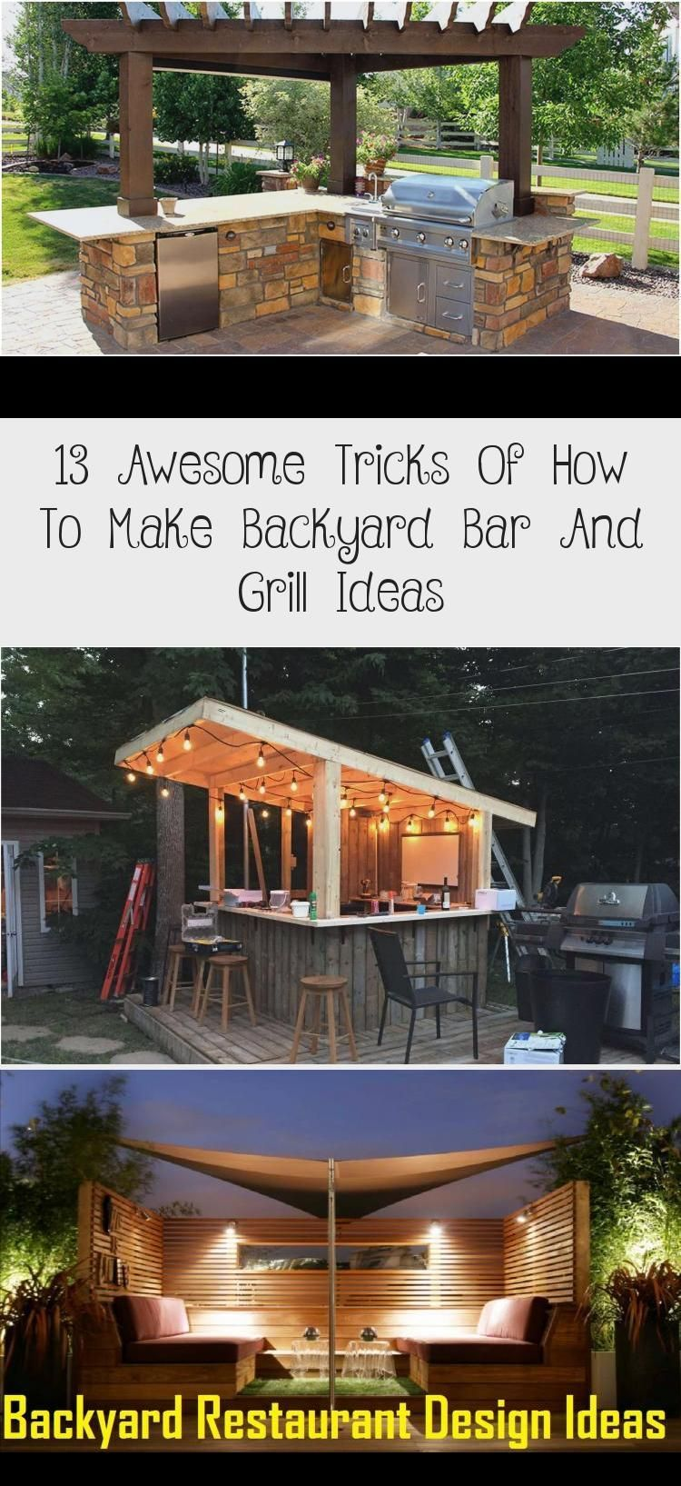 13 Awesome Tricks of How to Make Backyard Bar And Grill ...