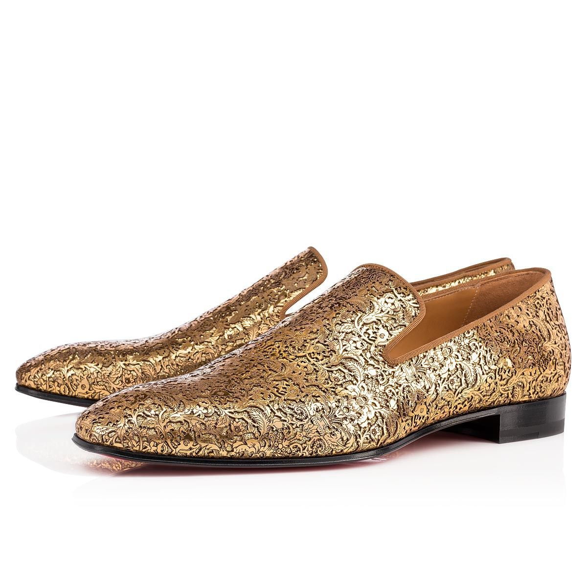 2f22a483a0e3 Christian Louboutin United States Official Online Boutique - Dandelion Flat  Gold Specchio Laser Rococo available online. Discover more Men Shoes by ...