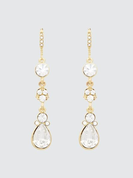A peek of shine from the right accessory can perfectly complete any look. Incorporate a hint of glint into your evening outfit by working in these dazzling dangle earrings.7010773-2413