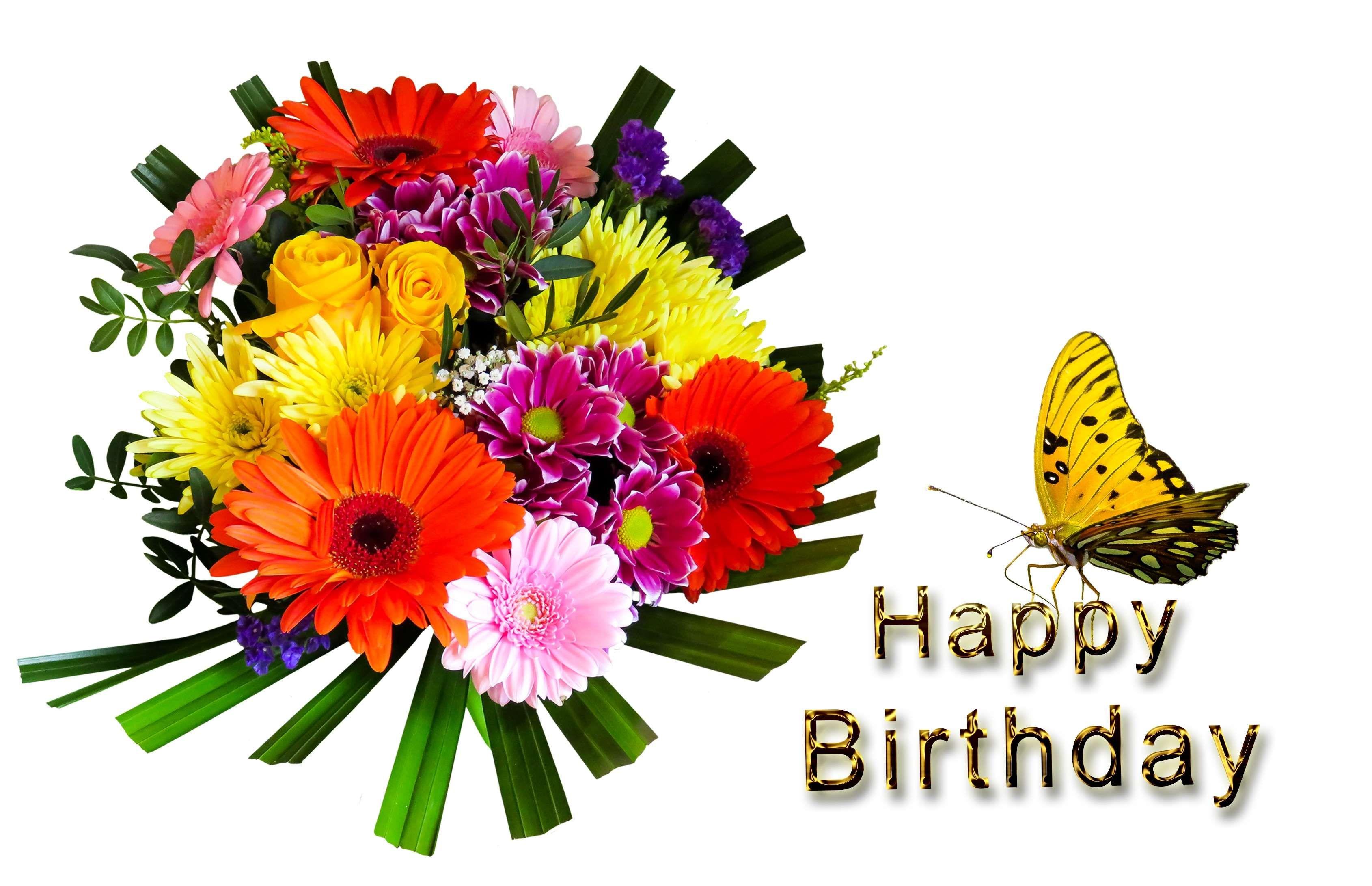 Birthday Birthday Bouquet Birthday Card Bouquet Butterfly