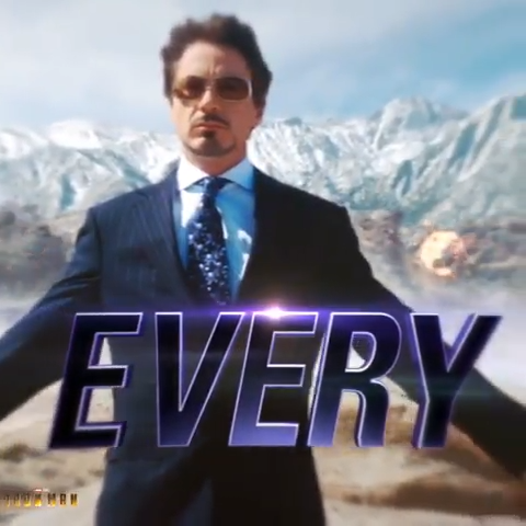 Part of the journey is the end/ Tony Iron Man/ Avengers/ Marvel