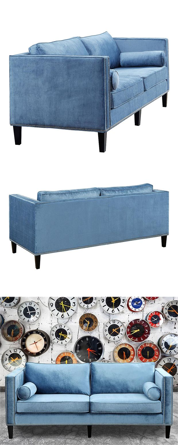 Coolly hued and cleanly designed, this Trevor Velvet Sofa offers a contemporary take on…