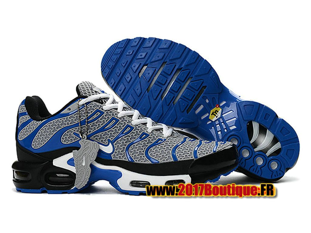 the best attitude 2ff6f 7e8f3 Nike Air Max Tn Tuned Requin 2017 Chaussures Nike Baskets Pas Cher Pour  Homme Gris Bleu
