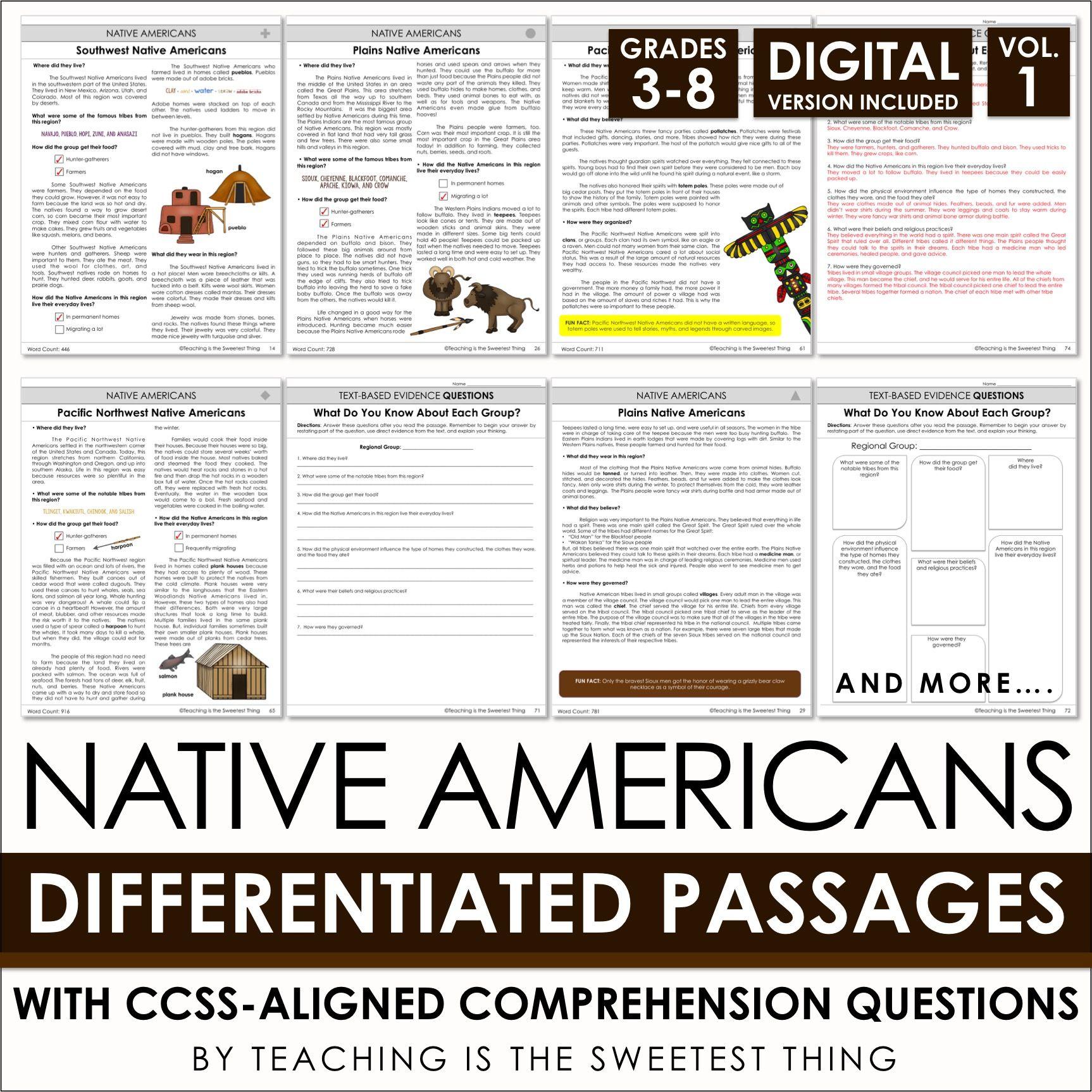 Native Americans Passages