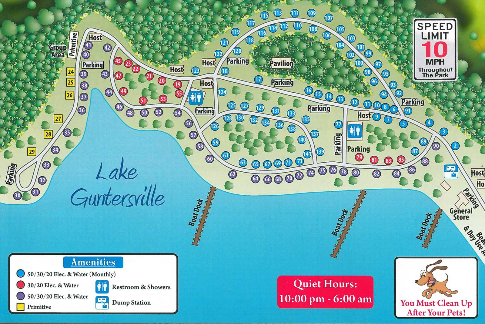 Campground Site Map | Honeycomb Campground | Camping Trips ...