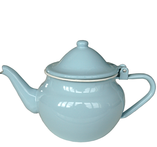 Emaille keizer theepot 0,8l blauw