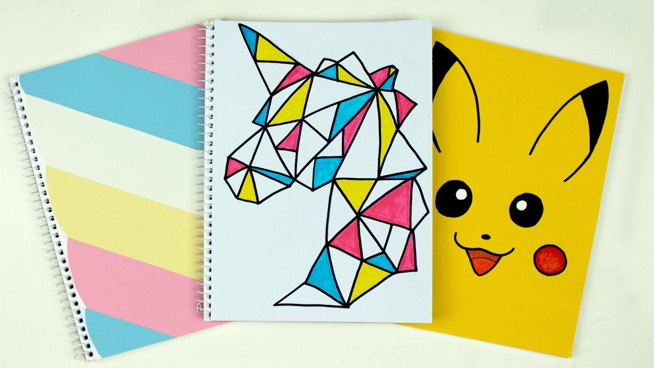 Diy School Book Cover ~ Diy notebook covers cutify diy back to school supplies ecole