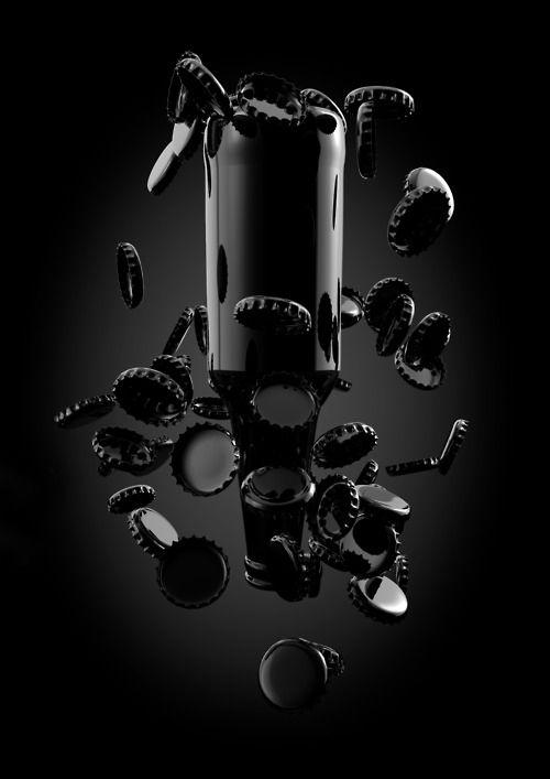 Liquid Caps Black Inspiration Shades Of Black Black Aesthetic