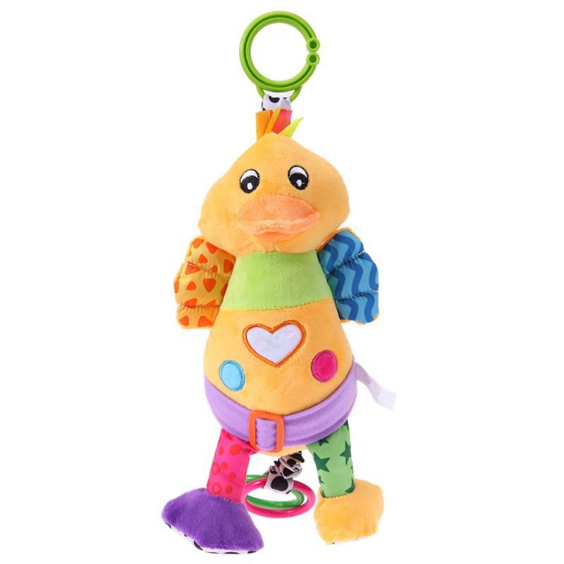 Cute Lovely Plush Baby Toy Baby Stroller Rattle Toys Infant Cartoon Duck Pull Bell Rattle Dolls Toys Educational Babies Gift. Yesterday's price: US $13.60 (11.95 EUR). Today's price: US $10.34 (8.99 EUR). Discount: 24%.