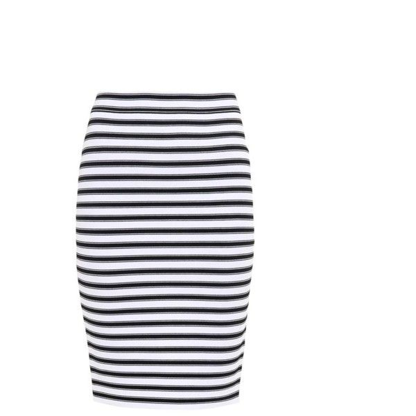 ecebca2f0c A.L.C. Marilyn striped pencil skirt ($220) ❤ liked on Polyvore featuring  skirts, black stripe, stretch pencil skirt, black pencil skirt, black  jersey skirt ...