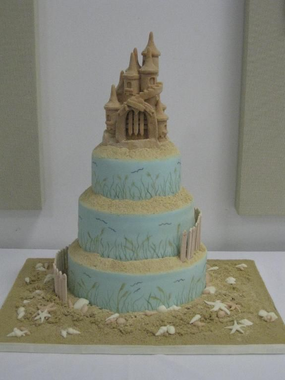 sandcastle wedding cake topper this is a theme wedding cake with a modeling 19667