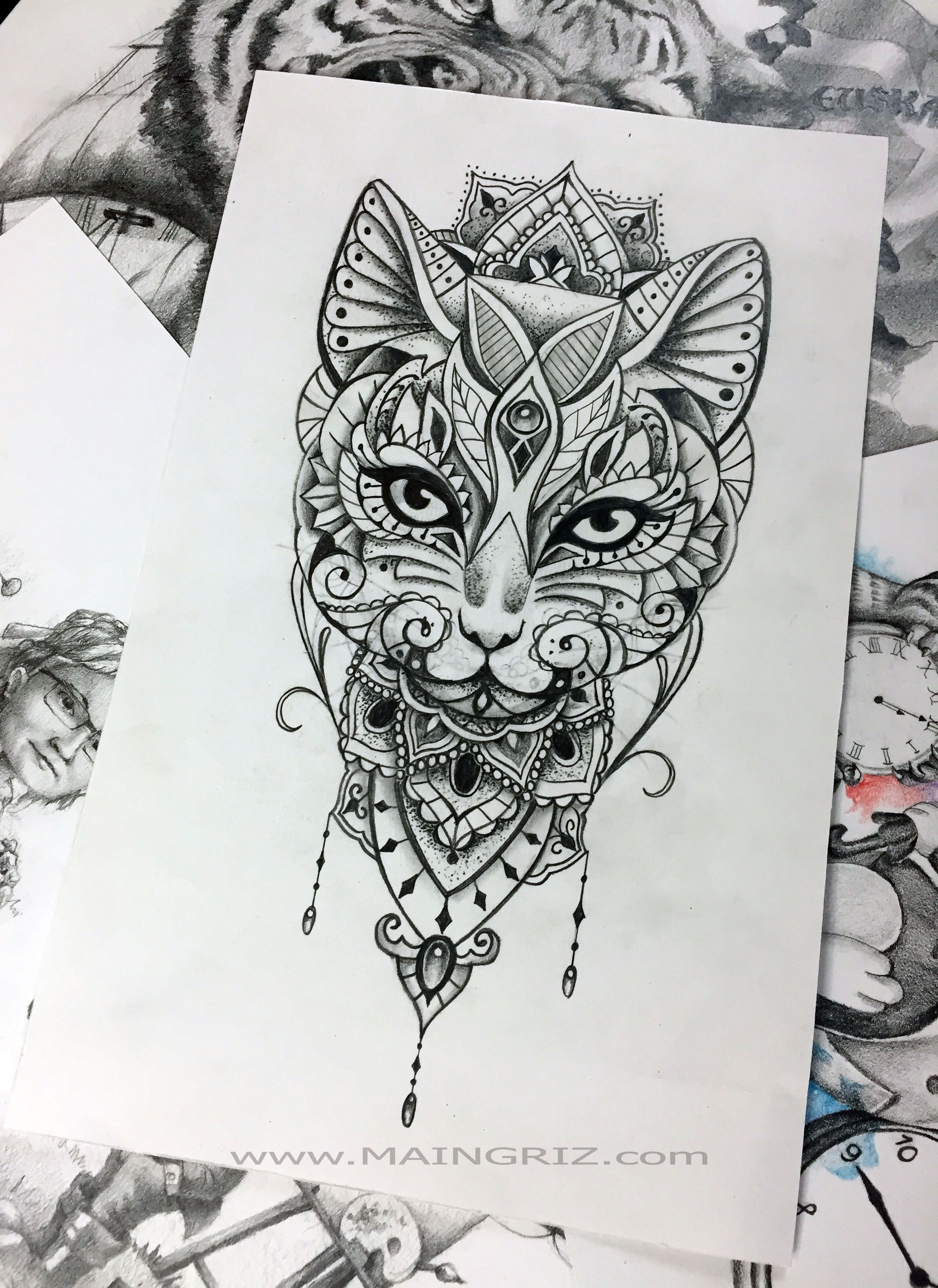 Pin By Stephanha On Tattoos In 2020 Cat Tattoo Designs Mandala Tattoo Design Cat Tattoo