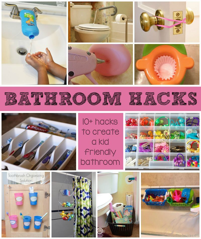 Kid friendly bathroom hacks for busy families home Cool household hacks