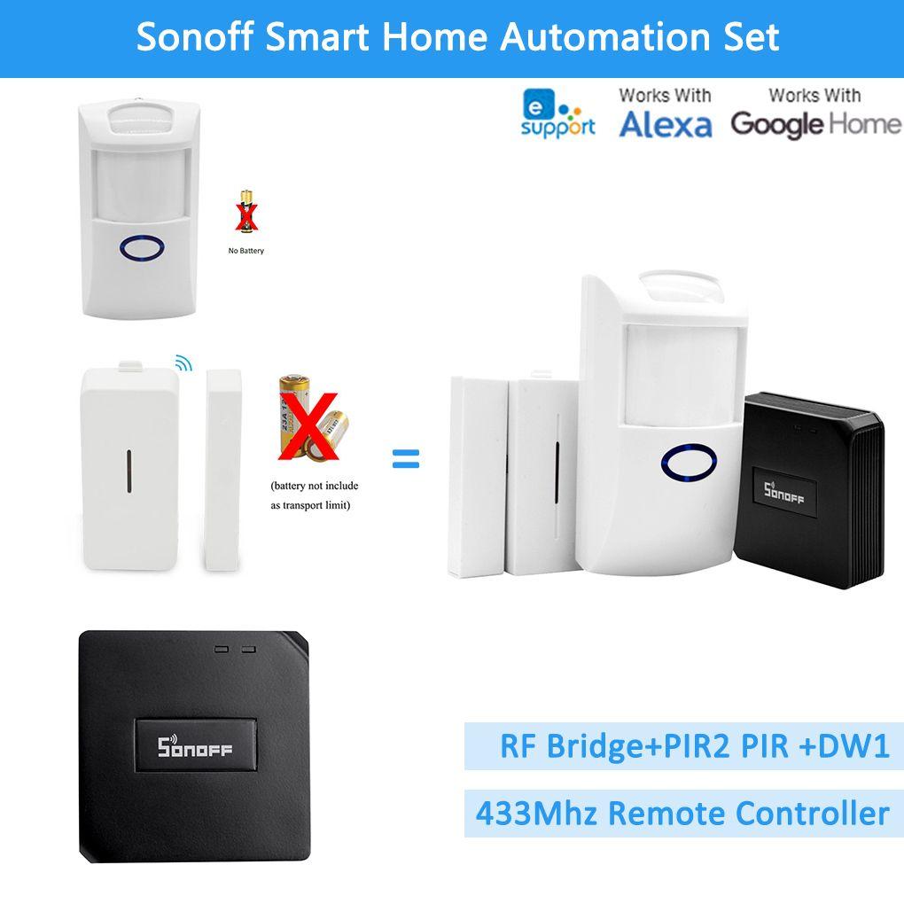 Sonoff RF Bridge 433+PIR2 Sensor+ DW1 Door & Window Alarm