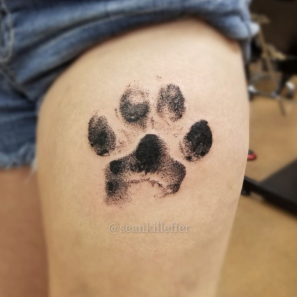 Life Size Great Dane Paw Dotworktattoo Pawprinttattoo