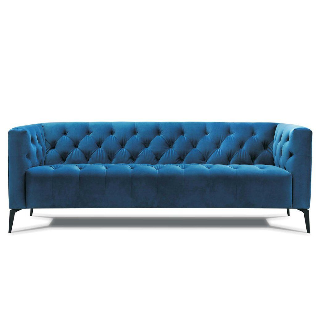 Oxford Modern Chesterfield Sofa In Velvet Fabric Sofa Modern