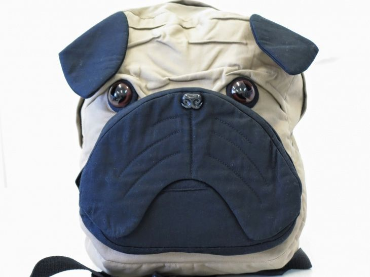 рюкзак в виде бульдога мопса