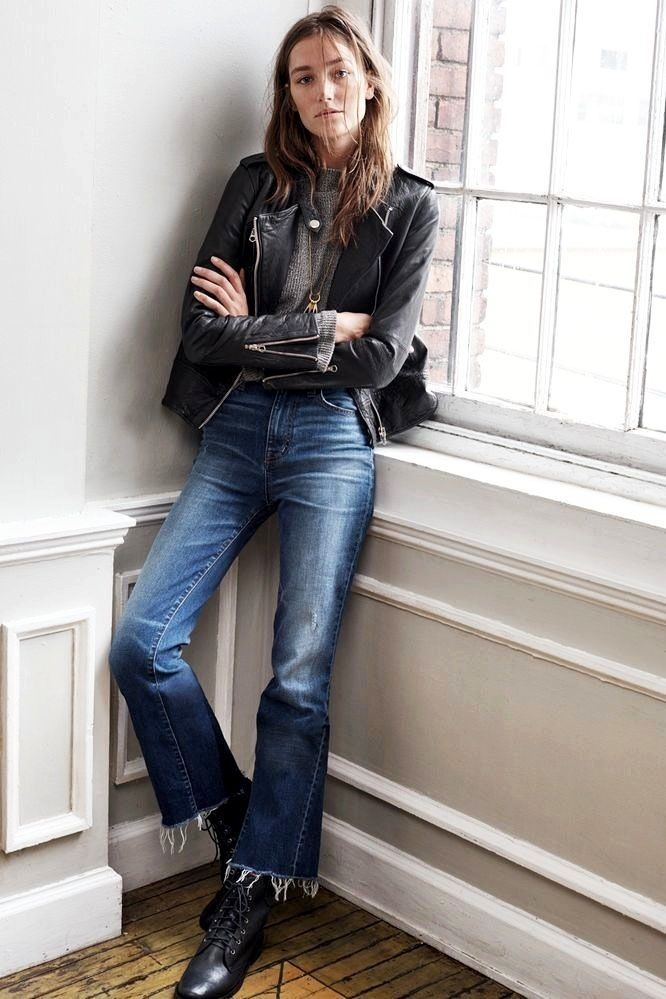 A Downtown Cool Take On Cropped Denim Flares | Style and Fashion ...
