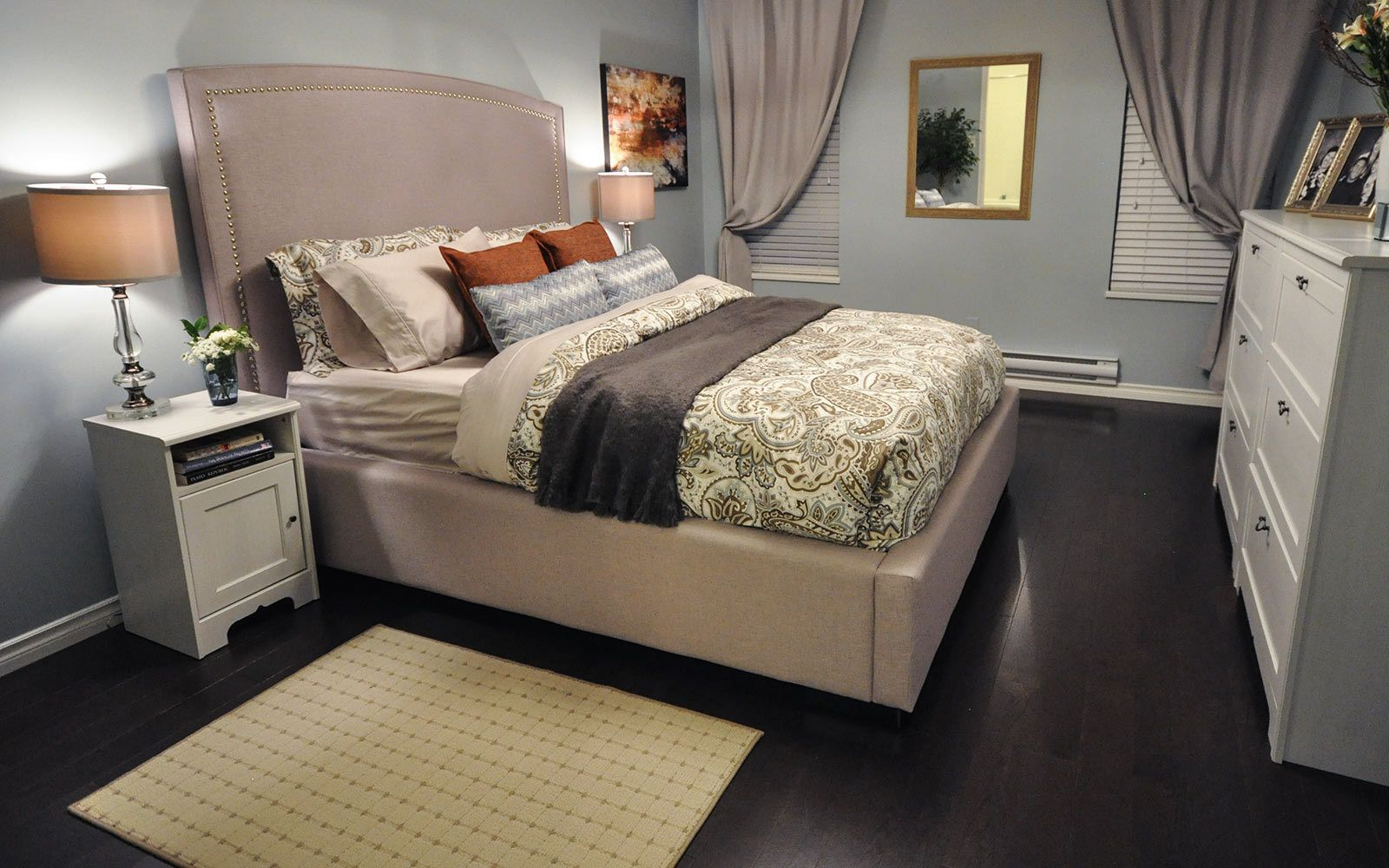 Inspirations Elegancia Contemporary Bed Home Sanctuary Bedroom