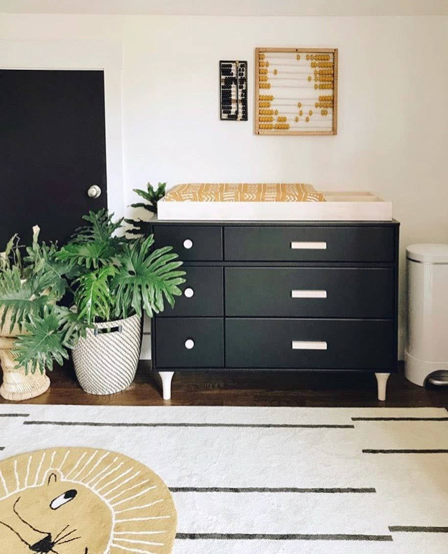 Lolly 6 Drawer Assembled Double Dresser Black Nursery Furniture Green Dresser Black Crib [ 1129 x 914 Pixel ]